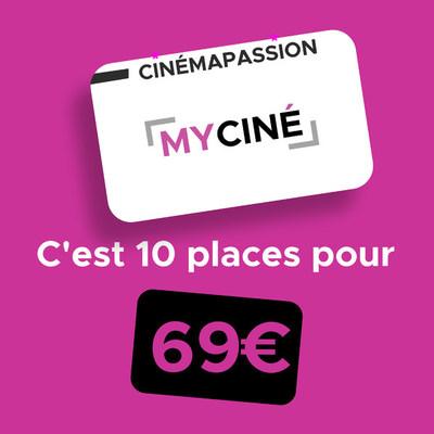 La carte #cinémapassion 10 séances à 69€